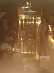 Moet golden cage