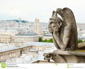 Chimera della cattedrale di Notre Dame di Parigi